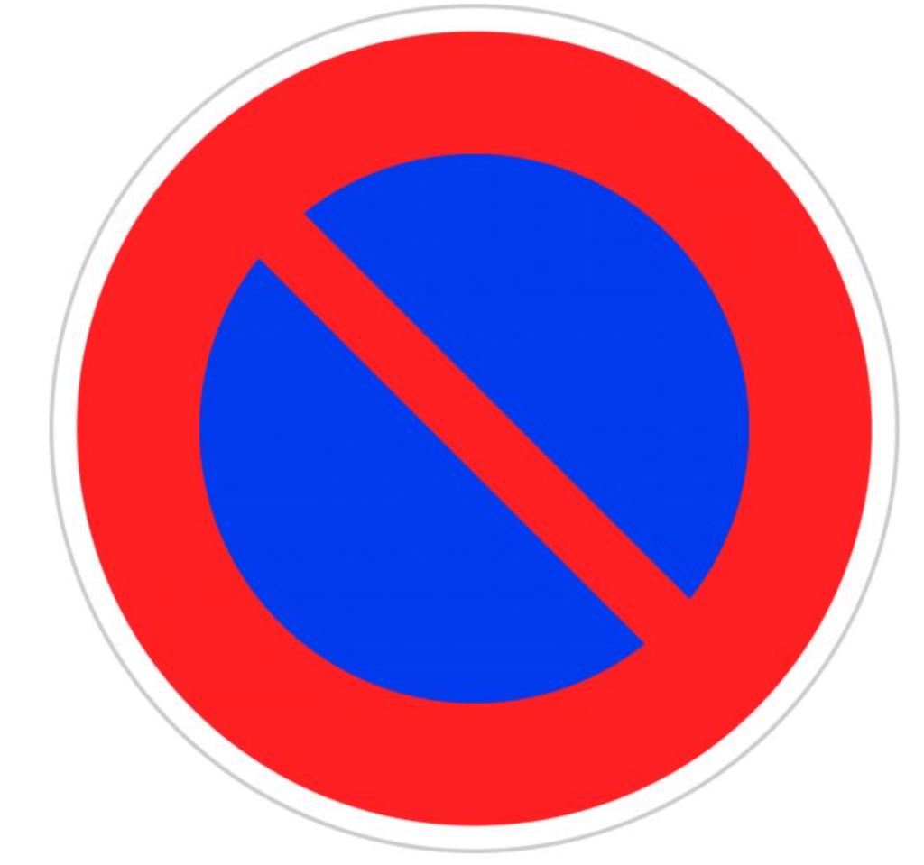 駐車禁止の日本の道路標識