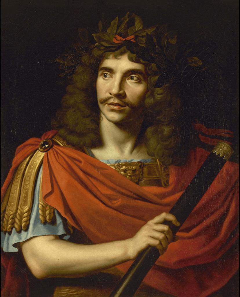 フランスの劇作家ジャン=バティスト・ポクランJean-Baptiste Poquelin肖像画