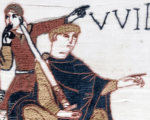 ウィリアム一世が描かれたタペストリー